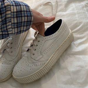Shellys London white platform sneakers